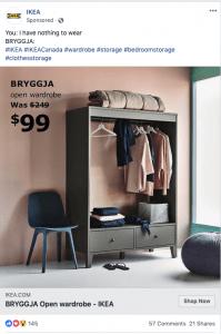 Ikea Facebook Ad